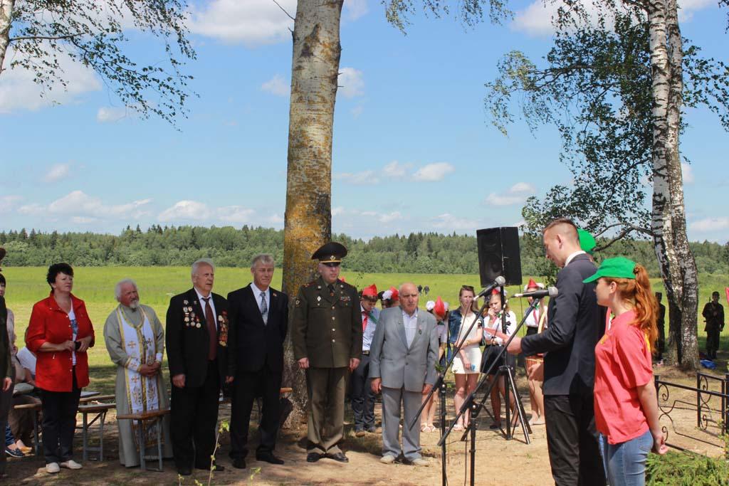 Открытие памятника на месте сожженой деревни Федьки