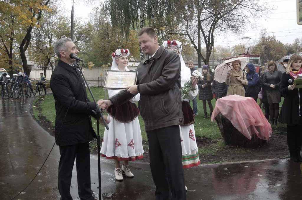 Районная общественная организация «Белорусский фонд мира» Первомайского района г. Витебска приняла участие в реконструкции сквера «Академический»
