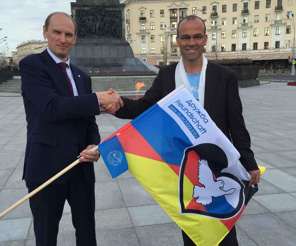 Участники «Автопробега мира» прибыли в Минск.