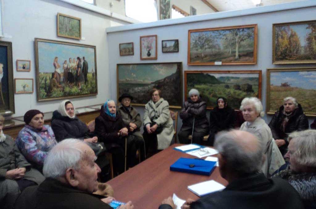 Собрание с жителями сожженых деревень
