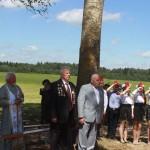 Открытие памятника на месте сожженой деревни Федьки 1
