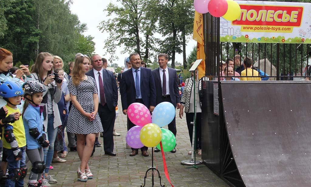 В городе Кобрине появился скейт-парк