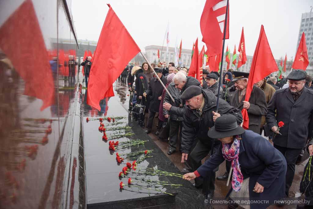 В Гомеле отпраздновали 100-лутние великого октября